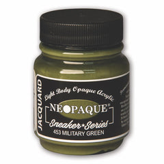 Jacquard Neopaque Acrylic Paint 2.25oz - Military Green - Sneaker Series