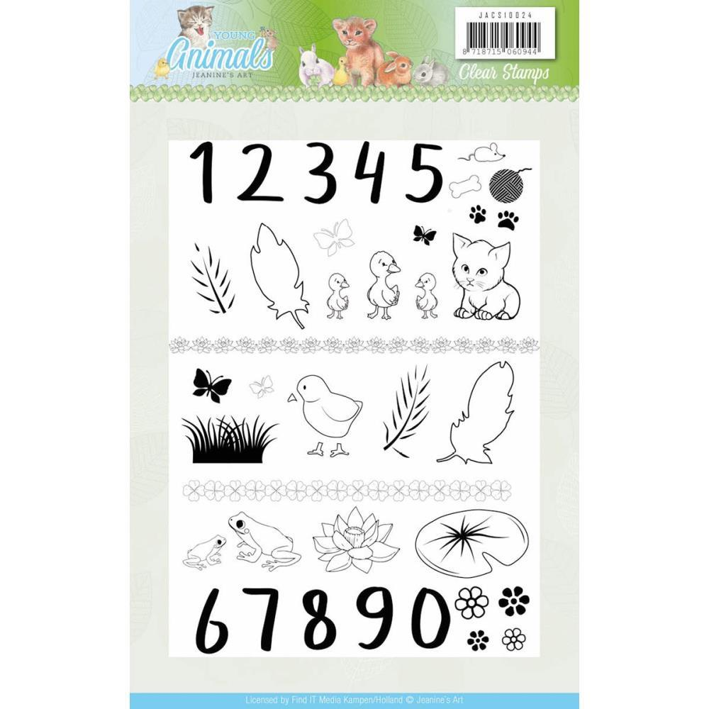 Find It Trading Jeanines Art Clear Stamps - Young Animals