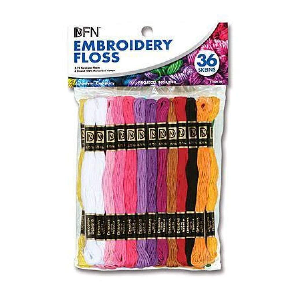 Janlynn Cotton Embroidery Floss Value Pack (36 Skeins)
