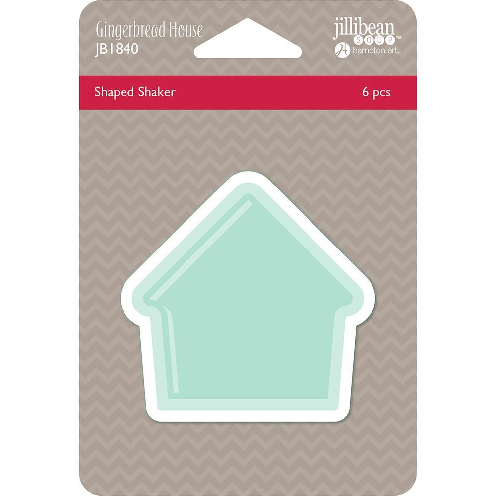 Jillibean Soup PVC Card Shakers 6 pack - Gingerbread House