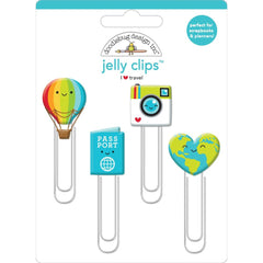 Doodlebug - Jelly Clips 4 pack - I Heart Travel