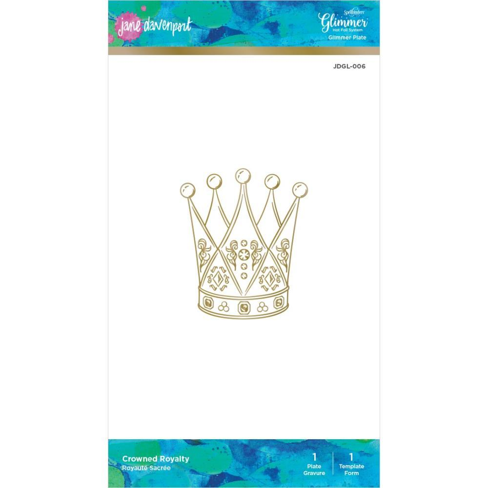 Jane Davenport Glimmer Hot Foil Plate & Template Set Crowned Royalty