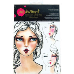 Jane Davenport Making Faces Collection - Paper Pad - Face Charts - I Came, I Saw, I Contoured