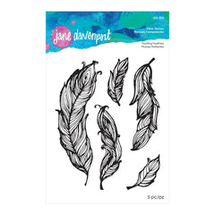 Jane Davenport - Artomology Collection - Clear Acrylic Stamps - Floating Feathers