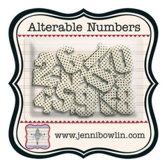Jenni Bowlin - Alterable Alphas - Numbers