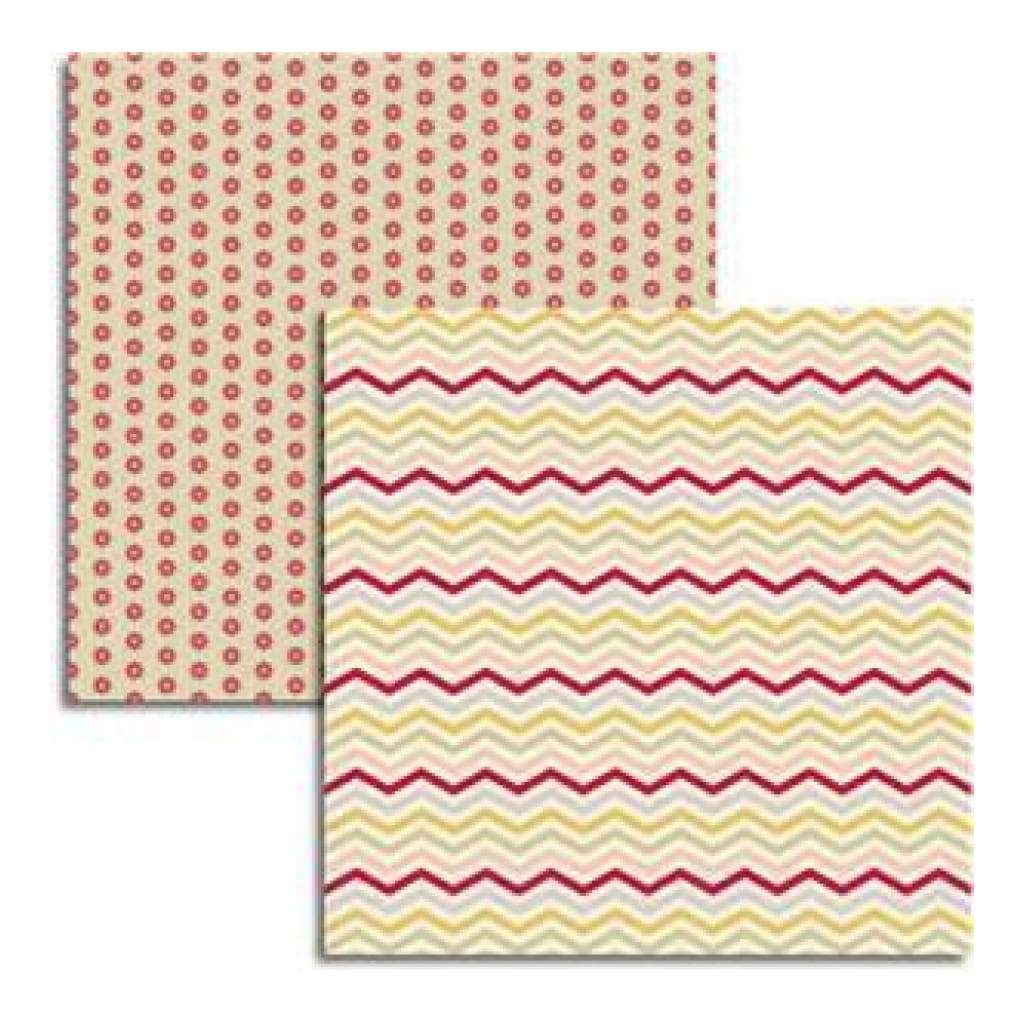 Jenni Bowlin - Magpie - Compile / Checks 12X12 D/Sided Paper  (Pack Of 10)