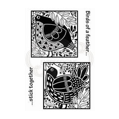 Woodware - Clear Singles Stamp - Bird Blocks 4 in x 6 in.