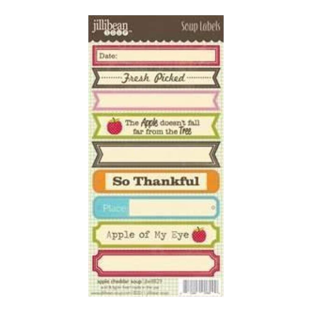 Jillibean Soup - Apple Cheddar Soup - 3X6.25 Label Stickers