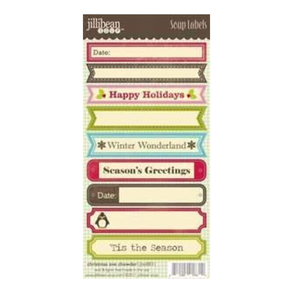 Jillibean Soup - Christmas Eve Chowder - 3X6.25 Label Stickers