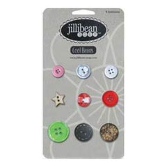 Jillibean Soup - Cool Beans - 9 Count Buttons - Christmas