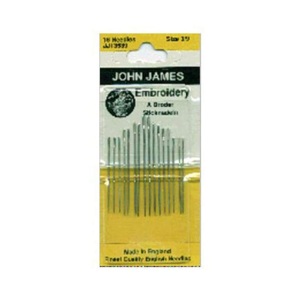 John James Embroidery Hand Needles Size 3/9 16 pack