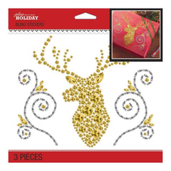 Jolees Boutique Dimensional Stickers Bling Deer Head Silhouette
