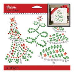 Jolees Boutique Dimensional Stickers Bling Holiday Trees