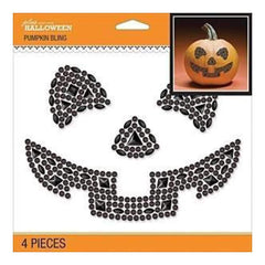 Jolee's Halloween  Bling Stickers 6.5 Inch X6.5 Inch - Jack-O-Lantern