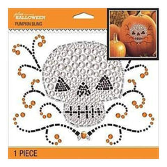 Jolee's Halloween  Bling Stickers 6.5 Inch X6.5 Inch - Scary Skull