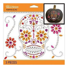 Jolee's Halloween  Bling Stickers 6.5 Inch X6.5 Inch - Sugar Skull