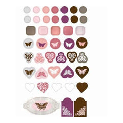 Jolie Chocolat Epoxy Stickers (Sold Individually)