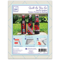 June Tailor - Quilt As You Go Wine Tote - Assorted 3 pack