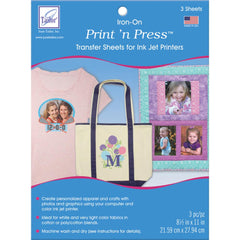 June Tailor - Print n Press Iron-On Transfer Paper 8.5 inch X11 inch 3 pack White