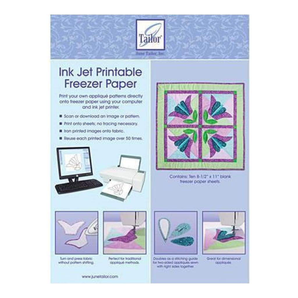 June Tailor - Ink Jet Printable Freezer Paper 8.5 Inch X11 Inch  10 Pack