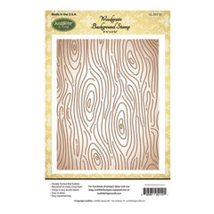 JustRite Papercraft Background Cling Stamps 4.5 inch X5.75 inch Woodgrain