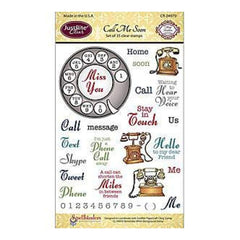 Justrite Papercraft Clear Stamp Set 4X6 Call Me Soon 35 Pieces