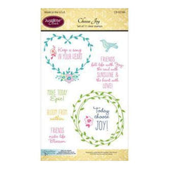 Justrite Papercraft Clear Stamp Set 4X6in  - Choose Joy