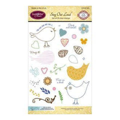 Justrite Papercraft Clear Stamp Set 4X6in -  Sing Out Loud