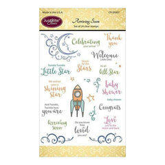 Justrite Papercraft Clear Stamps 4 Inch X6 Inch  Arriving Soon