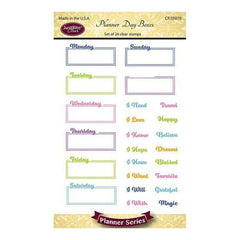 Justrite Papercraft Clear Stamps 4 Inches X6 Inches Planner Day Boxes