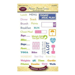 Justrite Papercraft Clear Stamps 4In. X6in. Planner Diet & Exercise