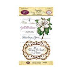 "JustRite Papercraft Clear Stamps 4""X6"" Magnolia Vintage Labels Seven 11pc"