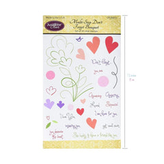"JustRite Papercraft Clear Stamps 4""X6"" Multi-Step Don't Forget Bouquet"