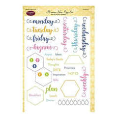 Justrite Papercraft Clear Stamps 6In. X8in. Planner Hex Page