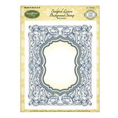 Justrite Papercraft Cling Background Stamp 4.5X5.75In - Sculpted Leaves