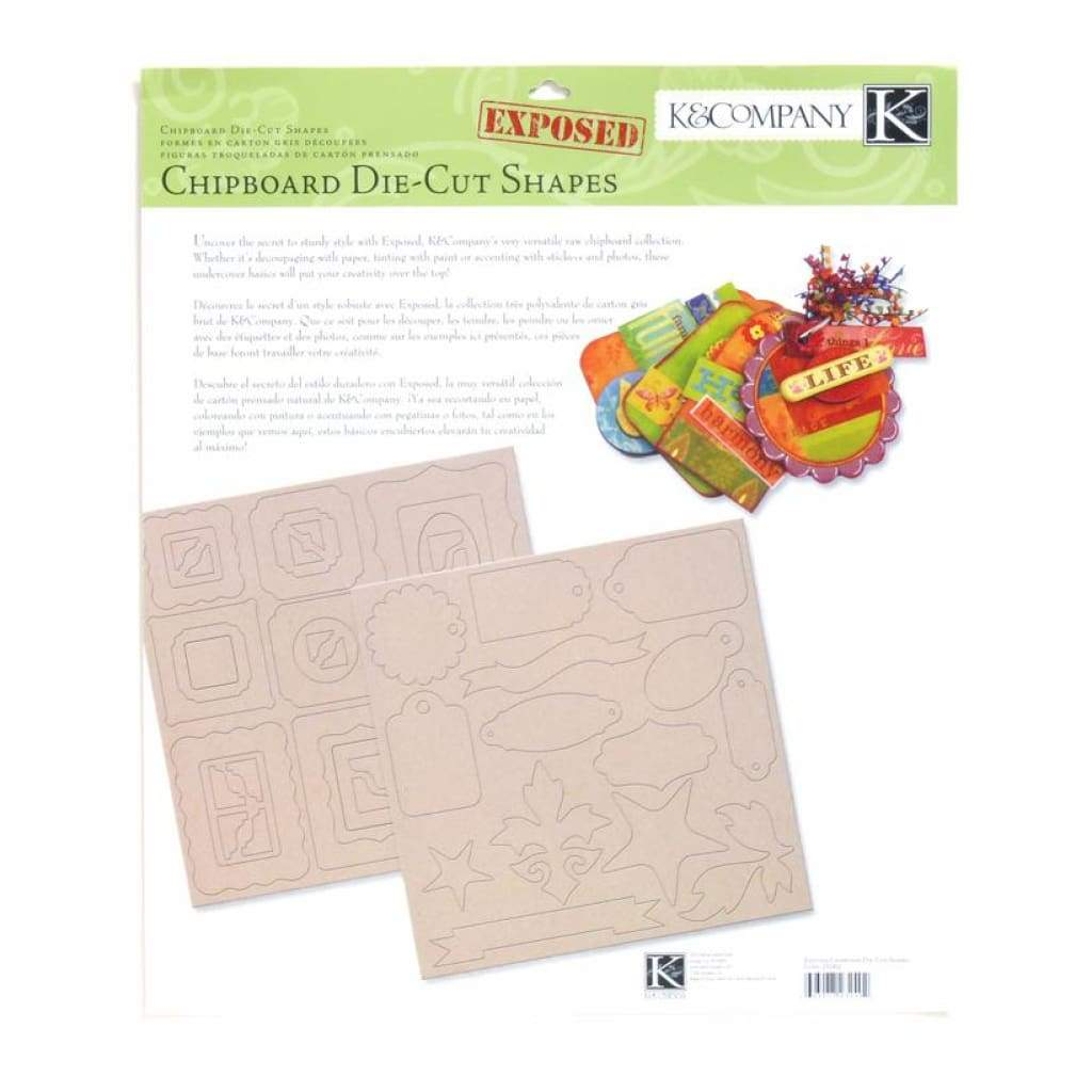 K & Company Exposed Chipboard Die-Cut Shapes