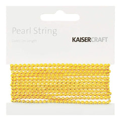 Kaisercraft - Gold Pearl String 2m