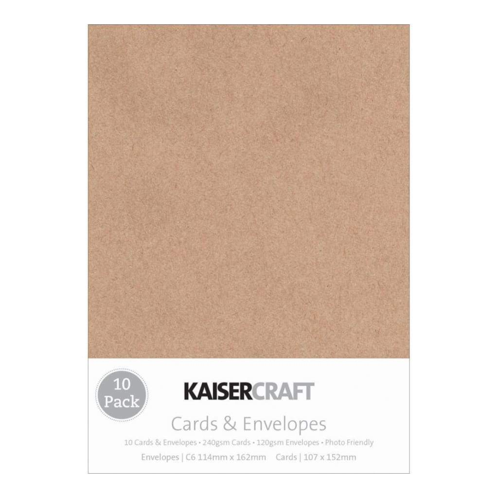 Kaisercraft Kraft - 10 cards 10 envelopes