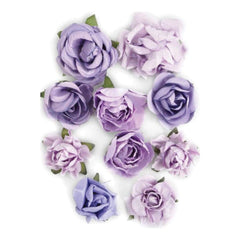 Kaisercraft Paper Blooms 1 inch - 1.5 inch 10 pack - Amethyst