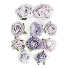 Kaisercraft - Paper Blooms 1 inch - 1.5 inch 10 pack Misty