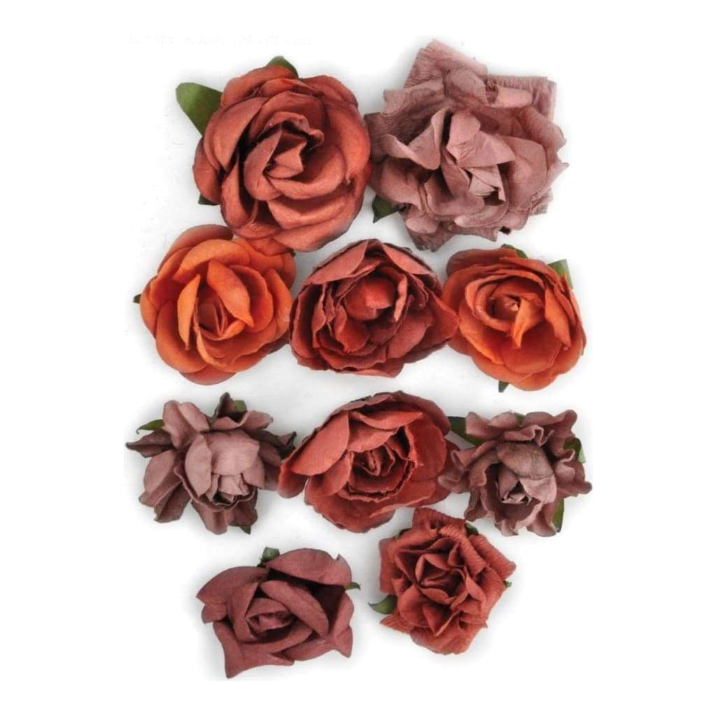Kaisercraft - Paper Blooms 1 inch - 1.5 inch 10 pack Ruby