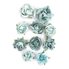 Kaisercraft - Paper Blooms 1 inch - 1.5 inch 10 pack Sage