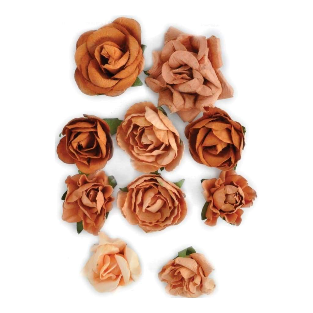 Kaisercraft - Paper Blooms 1 inch - 1.5 inch 10 pack Terra-Cotta