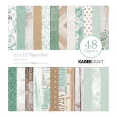 Kaisercraft Paper Pad 12 inch X12 inch 48 pack - Memory Lane