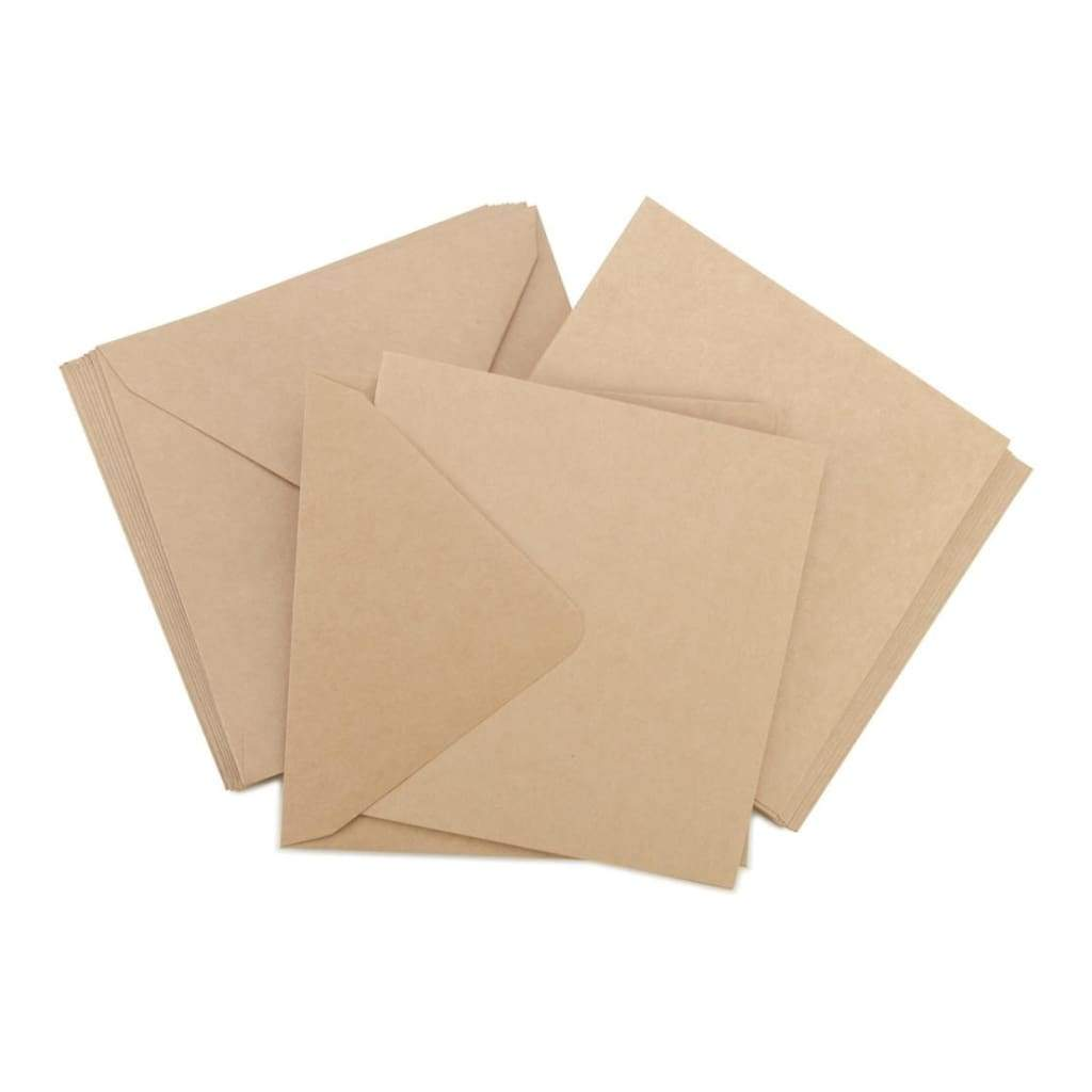 Kaisercraft Square Cards with Envelopes 5.5 inch X5.5 inch 10 pack Kraft