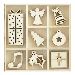 Kaisercraft Themed Mini Wooden Flourishes 40 pack - Ornaments