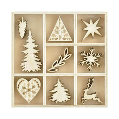 Kaisercraft - Themed Mini Wooden Flourishes 45 pack  - Nordic