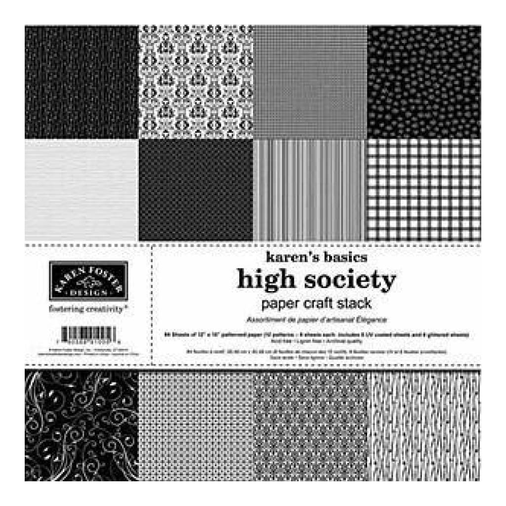 Karen Foster 12 X 12 Paper Pad - High Society