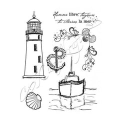 Katzelkraft - Boat at sea A6 - Rubber stamp - French Style - KTZ79