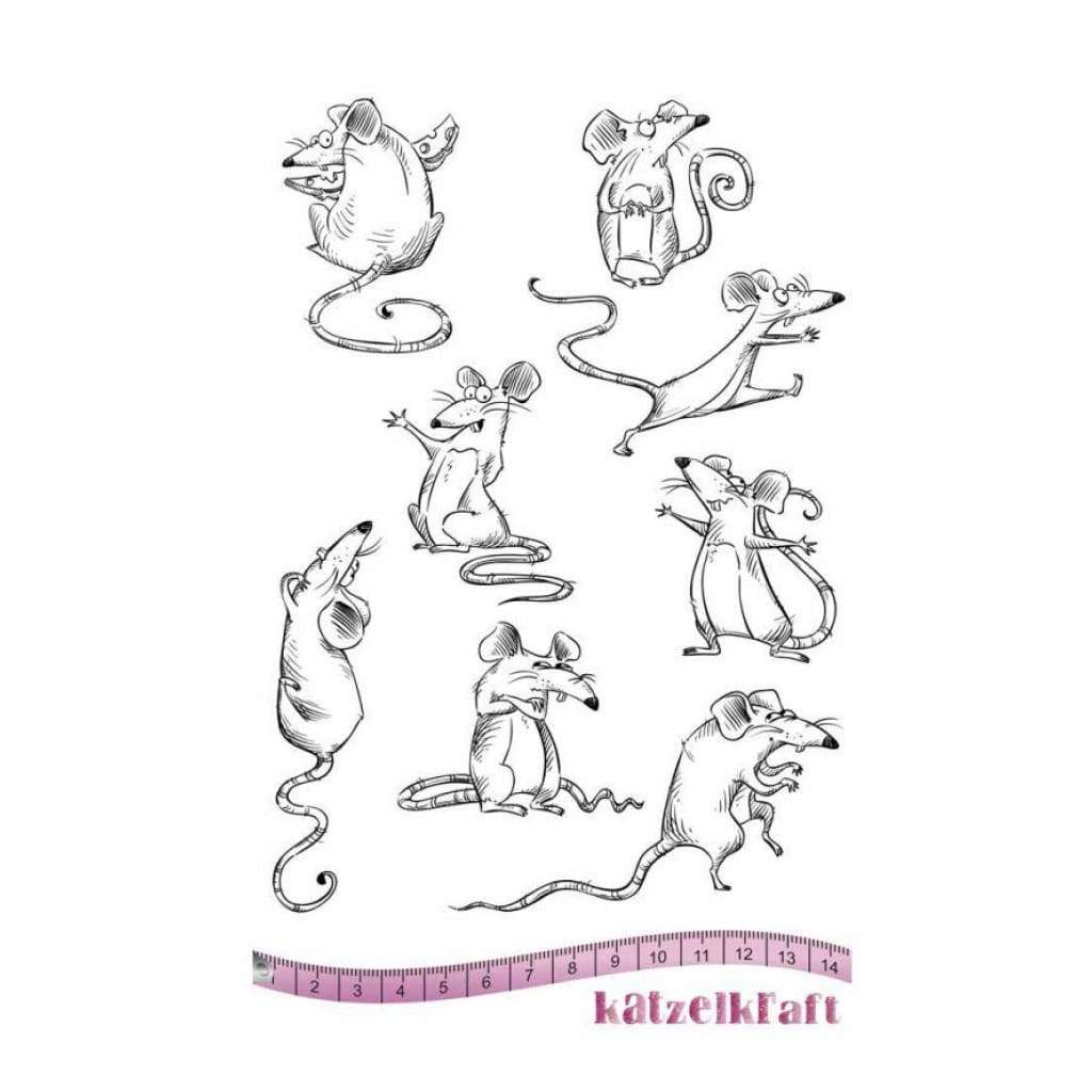 Katzelkraft - City rats - Rubber stamp